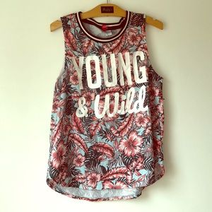 Young and Wild Floral Jersey Top